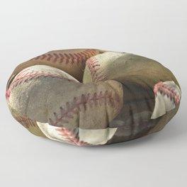Baseballs and Glove Floor Pillow