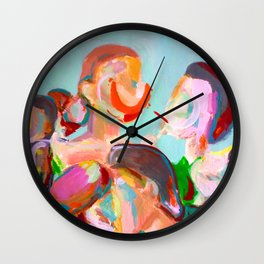Crowded Places Wall Clock