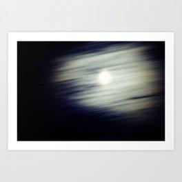 Me and the Moon Art Print