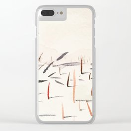 Sticks and Shadows on the North Thompson Clear iPhone Case