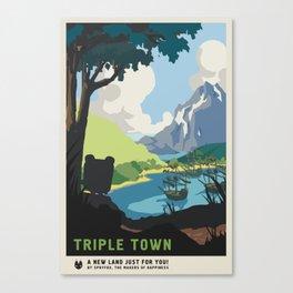 """A New Land"" (Triple Town) Canvas Print"