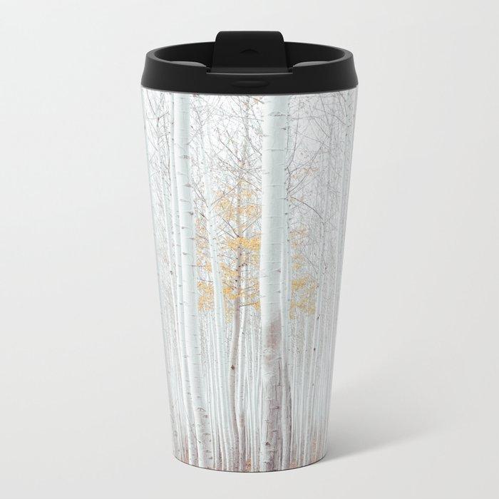 White tree forest Metal Travel Mug