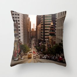 Lingering in San Francisco Throw Pillow