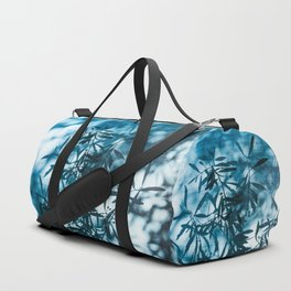 Olive tree leaves silhouette summer blue Duffle Bag