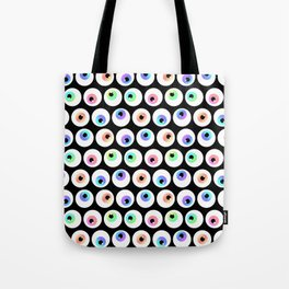 Lovely Sparkly Rainbow Eyeballs Tote Bag