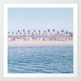 Vintage Newport Beach Print {3 of 4} | Photography Ocean Palm Trees Cool Blue Tropical Summer Sky Art Print
