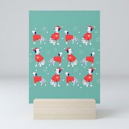 Christmas Dalmations Mini Art Print