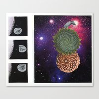 sacred geometry Canvas Prints featuring Sacred by SAM HAID