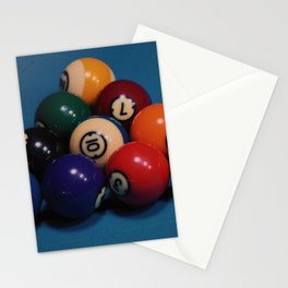 billiard balls Stationery Cards