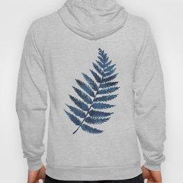 Blue watercolor fern Hoody