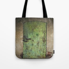 Rusty Green Door Tote Bag
