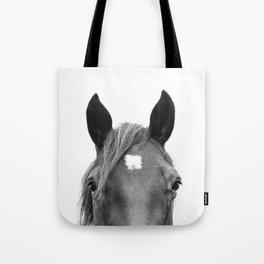 Peeking Horse Tote Bag