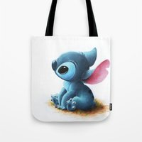 stitch Tote Bags featuring Stitch by Patricia Teo