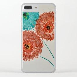 Dandelion Trio Clear iPhone Case