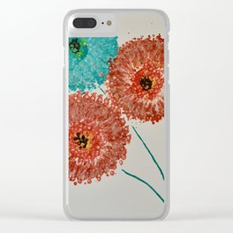 Dandelion Trio Clear iPhone Case