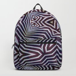 Abstract Zebra Design Backpack