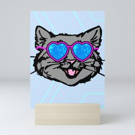 Crystal Eyed Kitty Mini Art Print