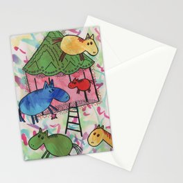 Merry go horsie by Laila Cichos Stationery Cards
