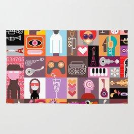 Pop-art graphic design Rug