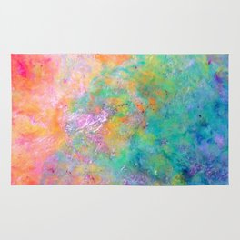 Kiss of Aether - Original Abstract Art by Vinn Wong Rug