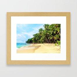 Tropical Beach - Landscape Nature Photography Framed Art Print