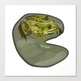 Prince Froggy Canvas Print