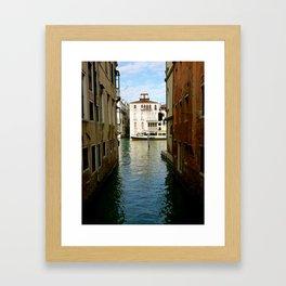 Canal (Venice, Italy) Framed Art Print
