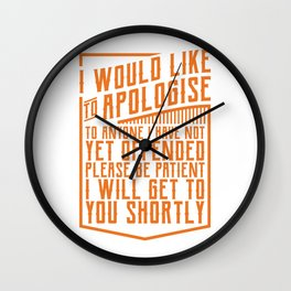 I'll Get To You Shortly Funny Mechanic Office Gift Wall Clock