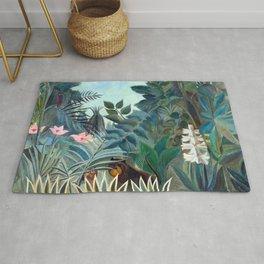 Henri Rousseau Equatorial Jungle Rug