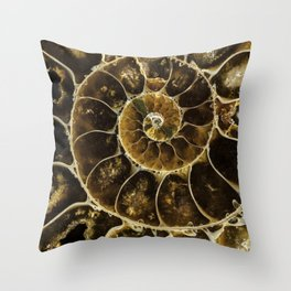 Detailed Fossil Throw Pillow