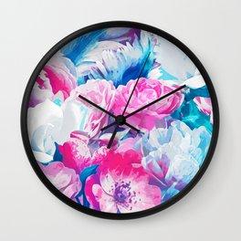 FLORAL GARDEN Peony & Magnolia Wall Clock