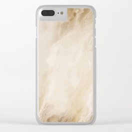 Brown Turquiose Marble texture Clear iPhone Case