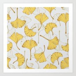 Ginkgo Pattern Art Print