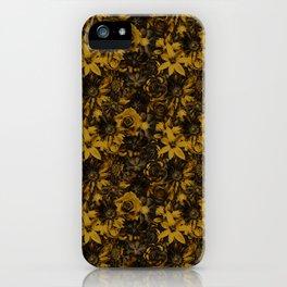 Classic Elegance Golden Flower - Enchanted Flowers iPhone Case