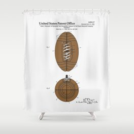 Football Patent Shower Curtain
