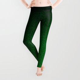 Emerald Green Ombre Design Leggings