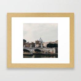 River Tiber & Vatican Framed Art Print