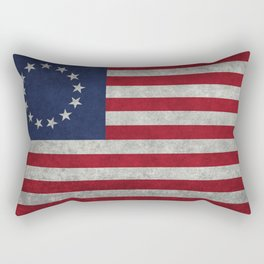 The Betsy Ross flag - Vintage grunge version Rectangular Pillow