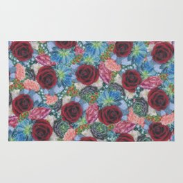Garden Bouquet  through Stained Glass Rug