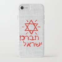 israel iPhone & iPod Cases featuring Bless Israel by biblebox