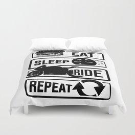 Eat Sleep Ride Repeat - Motorcycle Biker Street Duvet Cover