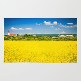Rape flower field in Transylvania Rug