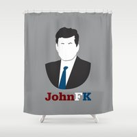 jfk Shower Curtains featuring JohnFK by Henderson GDI