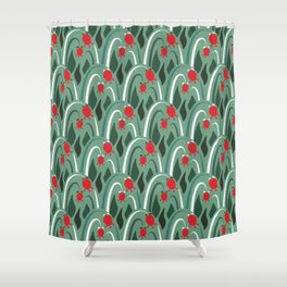 a lot of flowers for art deco mint Shower Curtain