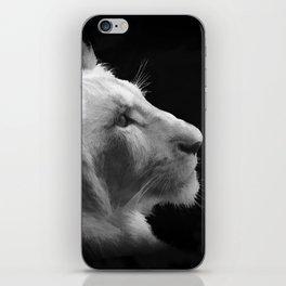 Wild White Lion Portrait iPhone Skin
