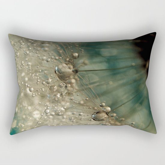 Dandy Clock Blues Rectangular Pillow