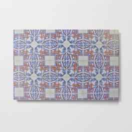 Azulejo Metal Print