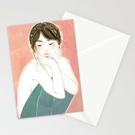 Pastel portrait Stationery Cards