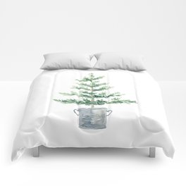 Christmas fir tree Comforters