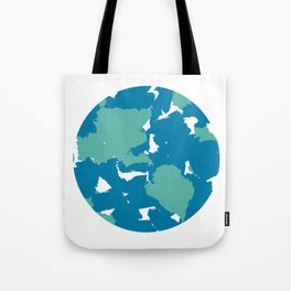 Minimal Planet Earth in Abstract Watercolor Tote Bag